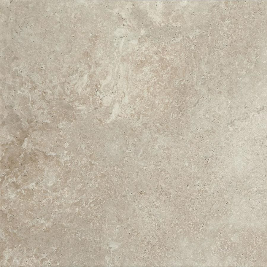Shop American Olean Tranquil Stone Warm Gray Porcelain Floor And