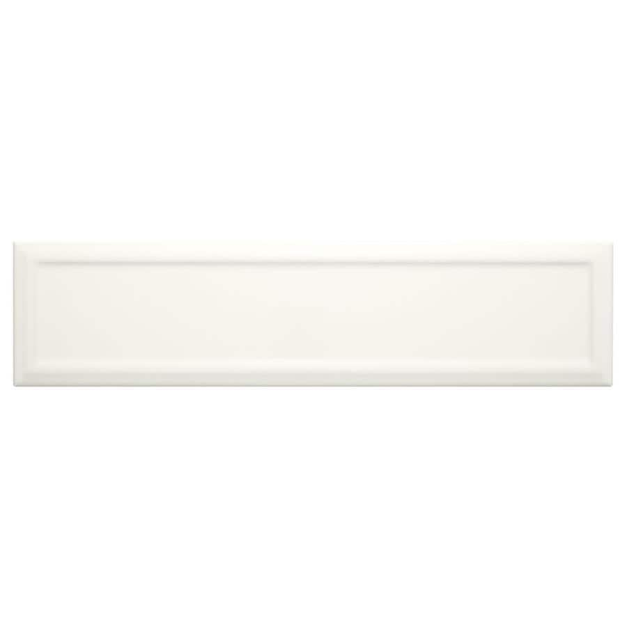 American Olean Elegant Structures Gloss White Ceramic Wall Tile (Common: 3-in x 12-in; Actual: 12.09-in x 3.01-in)