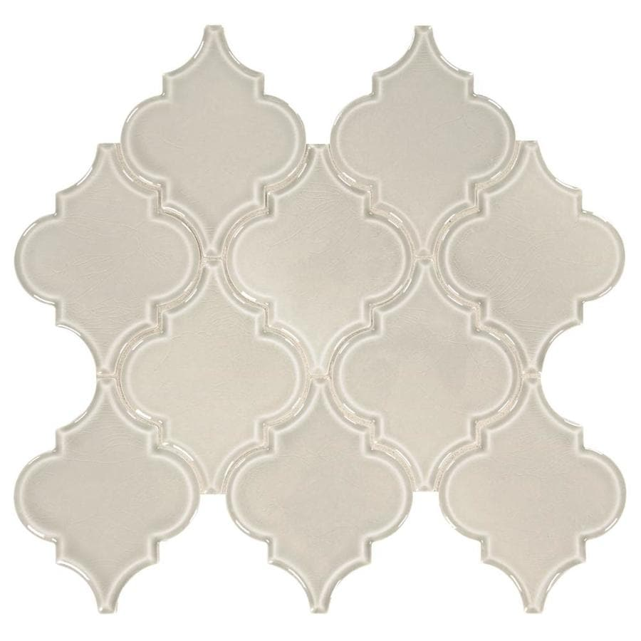 American Olean Union View Gray Arabesque Mosaic Porcelain Wall Tile Common 14 In