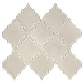 American Olean Union View Gray Arabesque 14-in x 14-in Porcelain Mosaic Wall Tile (Common: 14-in x 14-in; Actual: 14-in x 14.62-in)