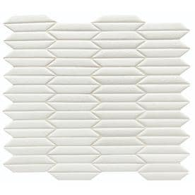 American Olean Union View White Trapezoid 12-in x 13-in Porcelain Mosaic Wall Tile (Common: 12-in x 13-in; Actual: 12-in x 13.68-in)