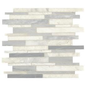 American Olean Genuine Stone Ice Gray Linear Mosaic Wall Tile (Common: 11-in x 13-in; Actual: 13.38-in x 11.88-in)