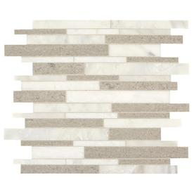 American Olean Genuine Stone Natural Mist 11-in X 13-in Linear Mosaic Wall Tile (Common: 11-in X 13-in; Actual: 11.88-in X 13.38-in)