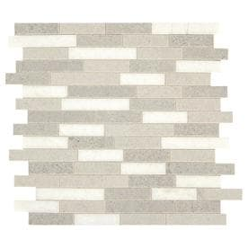 American Olean Genuine Stone Smoke Sand 11-in X 12-in Linear Mosaic Wall Tile (Common: 11-in X 12-in; Actual: 11.13-in X 12.38-in)