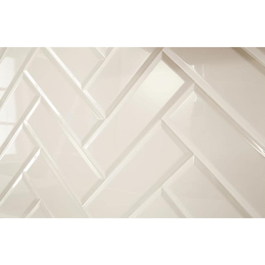 American Olean Starting Line Gloss White Ceramic Tile Sample Common 4 In X