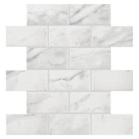 American Olean Mooreland Carrara White Brick Mosaic Ceramic Tile Sample Common 12 In