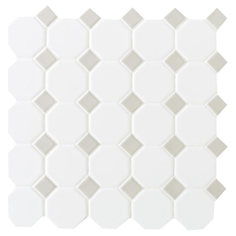 American olean sausalito white ceramic mosaic floor tile for Sausalito tile