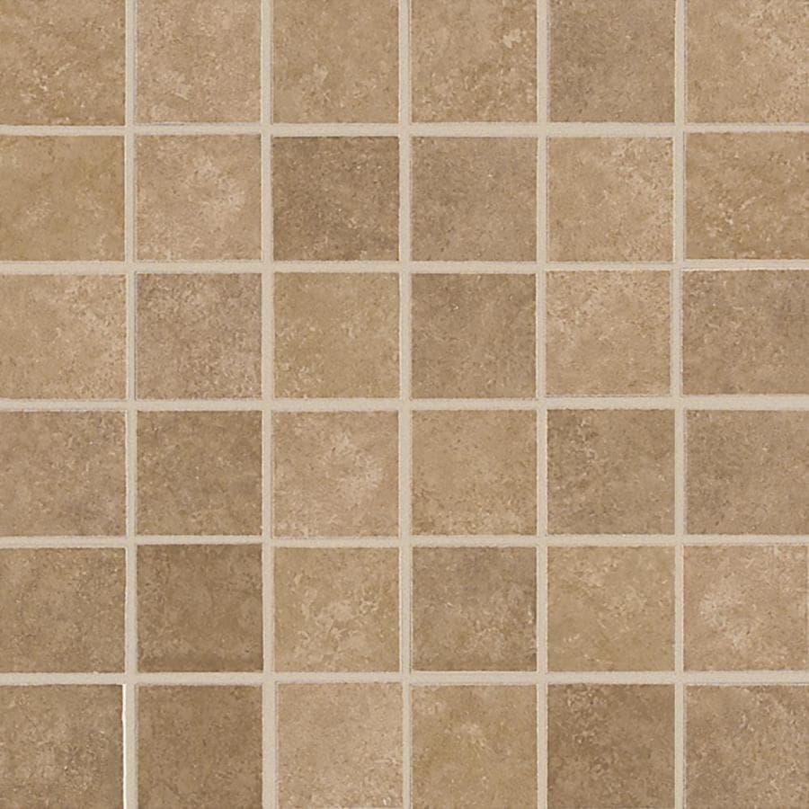 American Olean Weddington Russet Uniform Squares Mosaic Ceramic Tile Sample Common 3 In