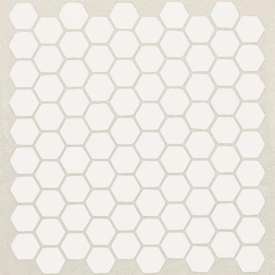 American Olean Satinglo Hex Ice White Honeycomb Mosaic Ceramic Tile Sample Common 3