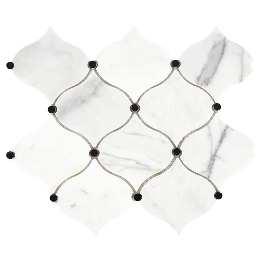 American Olean Genuine Stone Pearl White 10 In X 12 In Natural Stone Marble Lantern Wall Tile In The Tile Department At Lowes Com