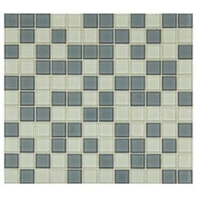 American Olean Longshore Coast 10-in x 11-in Glass Uniform Squares Mosaic Wall Tile (Common: 10-in x 11-in; Actual: 10.75-in x 11.75-in)