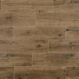 Mohawk ForeverStyle Oak Wood 6-in x 24-in Matte Porcelain Wood Look Floor Tile