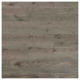 Mohawk ForeverStyle Smoke Wood 6-in x 36-in Porcelain Wood Look Floor Tile (Common: 6-in x 36-in; Actual: 5.9-in x 35.43-in)
