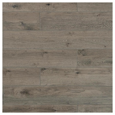 Foreverstyle Smoke Wood 6 In X 36 Porcelain Look Floor Tile Common Actual 5 9 35 43