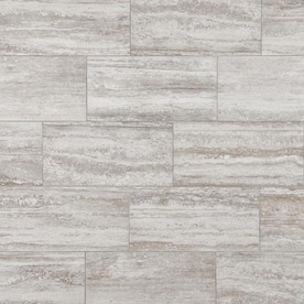 Mohawk ForeverStyle Cream Travertine 12-in x 24-in Porcelain Floor and Wall Tile (Common: 12-in x 24-in; Actual: 11.62-in x 23.4-in)