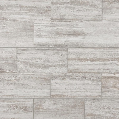 mohawk foreverstyle cream travertine 12 in x 24 in lappato porcelain stone look floor tile lowes com