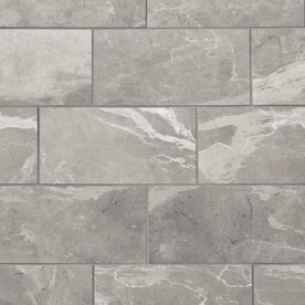 Mohawk ForeverStyle Gray Marble 12-in x 24-in Lappato Porcelain Marble Look Floor Tile