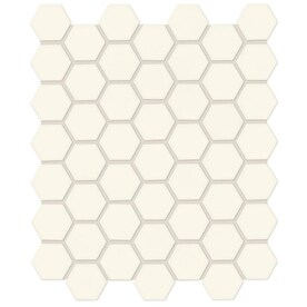 American Olean Starting Line Matte White 10-in x 12-in Ceramic Hexagon Mosaic Floor Tile (Common: 10-in x 12-in; Actual: 10.25-in x 11.375-in)