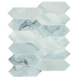 American Olean Genuine Stone Refined White 10-in x 12-in Honed Natural Stone Marble Uniform Diamonds Marble Look Floor and Wall Tile
