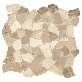 American Olean Union View Gray Arabesque 14 In X 14 In Porcelain Mosaic Wall Tile