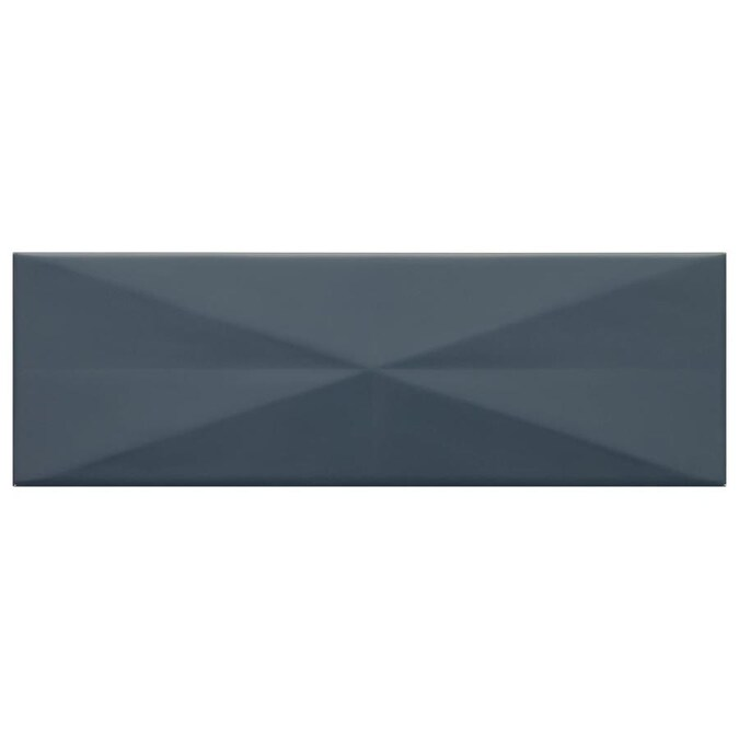 American Olean Vitascape Midnight Glossy 4 In X 12 In
