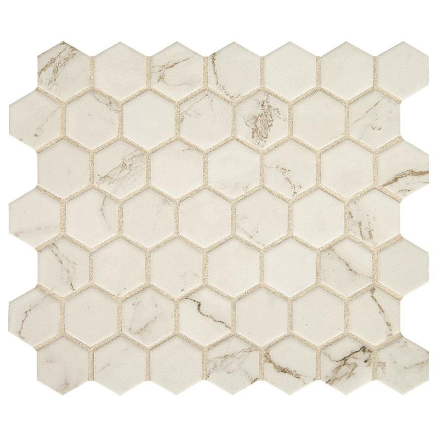 American Olean Marble Manor Calacatta 10 In X 12 In Matte Ceramic Marble Hexagon Marble Look Floor And Wall Tile In The Tile Department At Lowes Com
