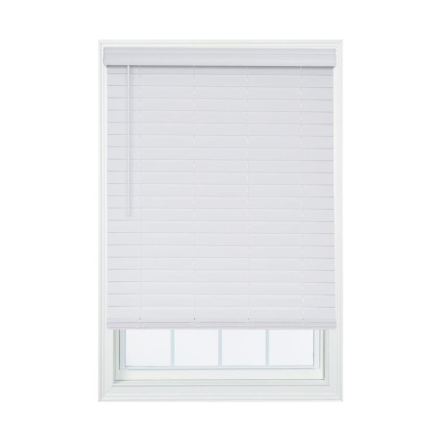 Allen Roth 2 1 2 In Cordless White Embossed Faux Wood