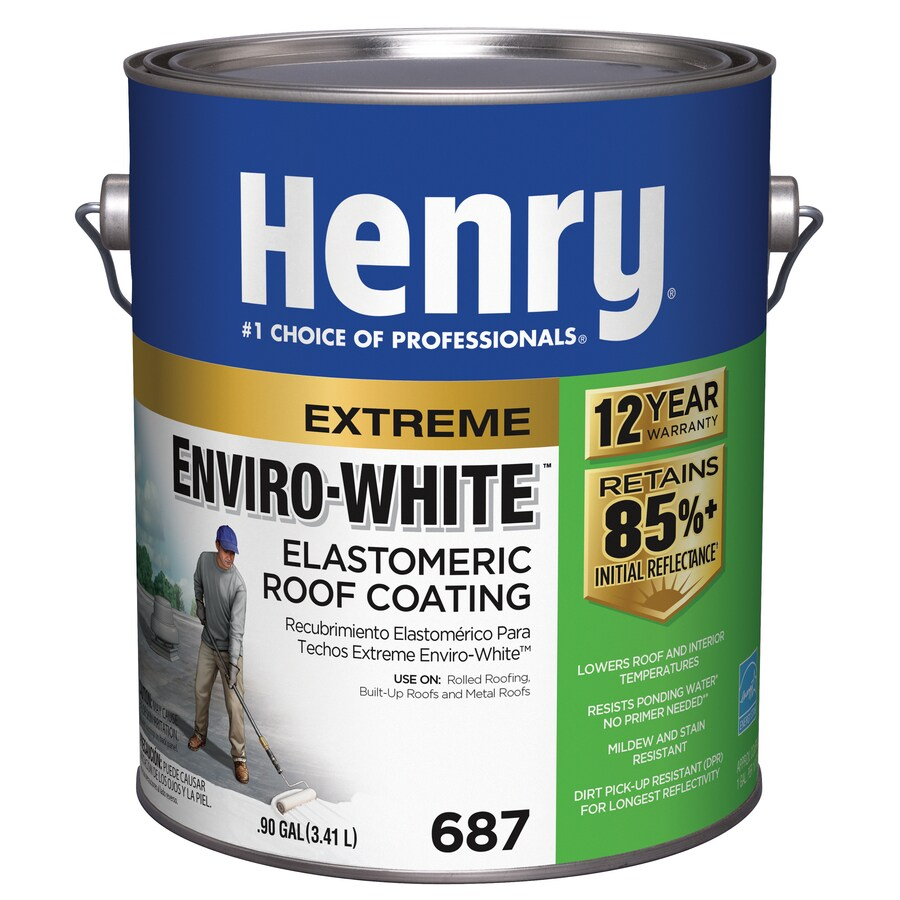 Henry Company Enviro-White 0.9-Gallon Elastomeric Reflective Roof Coating (12-Year Limited Warranty)