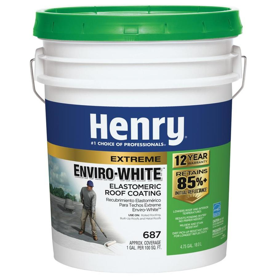 Henry Company Enviro White 4.75 Gallon Elastomeric Reflective Roof Coating  (12 Year