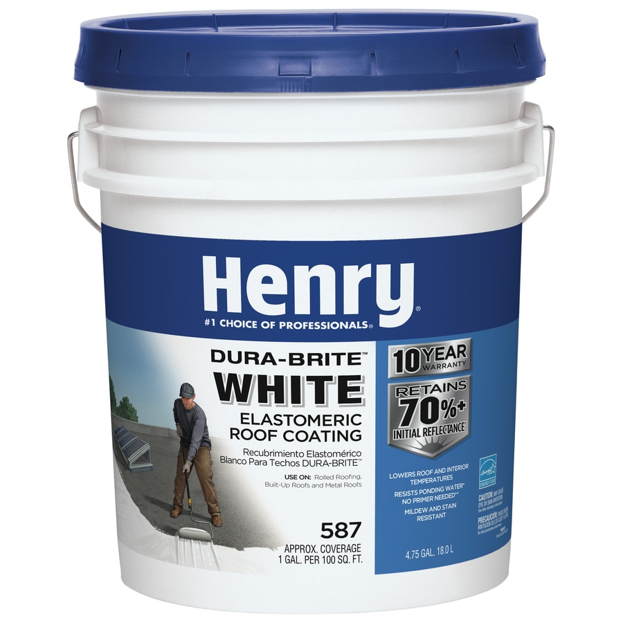 Henry Company Dura-Brite 4.75-Gallon Elastomeric Reflective Roof Coating (10-Year Limited Warranty)
