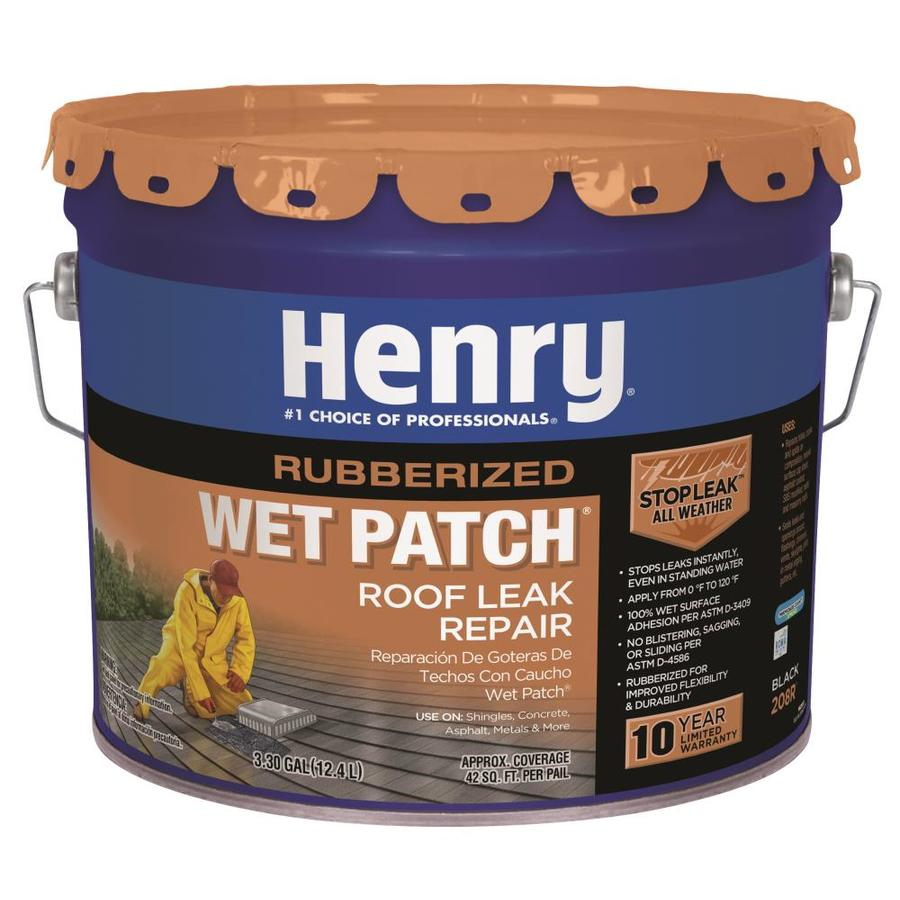 Henry Company Rubberized Wet Patch 3 Gallon Waterproofer Elastomeric Cement Roof  Sealant