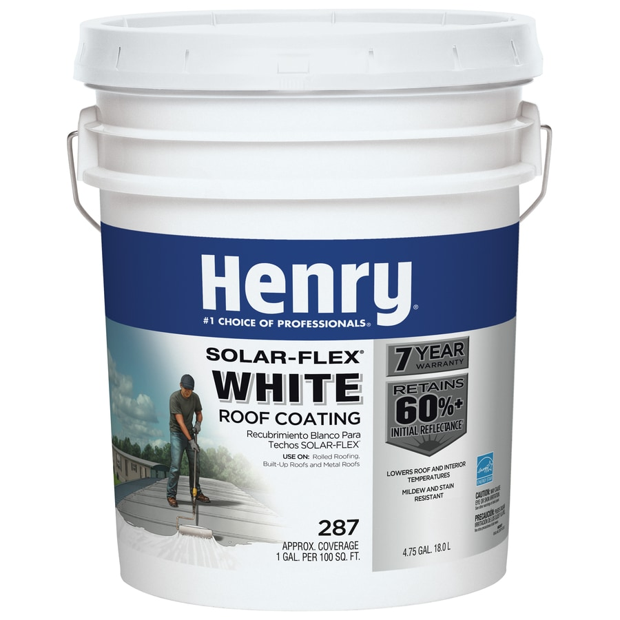 Henry Company Solar-Flex 4.75-Gallon Elastomeric Reflective Roof Coating (7-Year Limited Warranty)