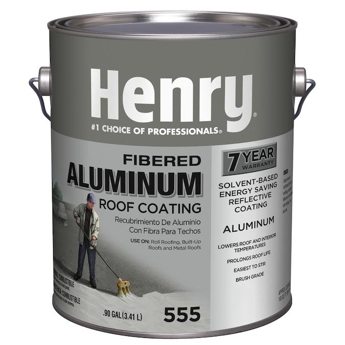 Henry Company Fibered Aluminum 0 9 Gallon Aluminum Reflective Roof Coating 7 Year Limited Warranty In The Reflective Roof Coatings Department At Lowes Com