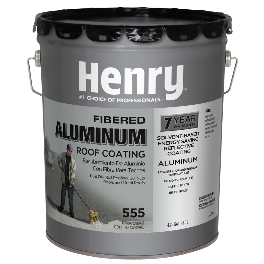 Henry Company Fibered Aluminum 4.75-Gallon Aluminum Reflective Roof Coating (7-Year Limited Warranty)
