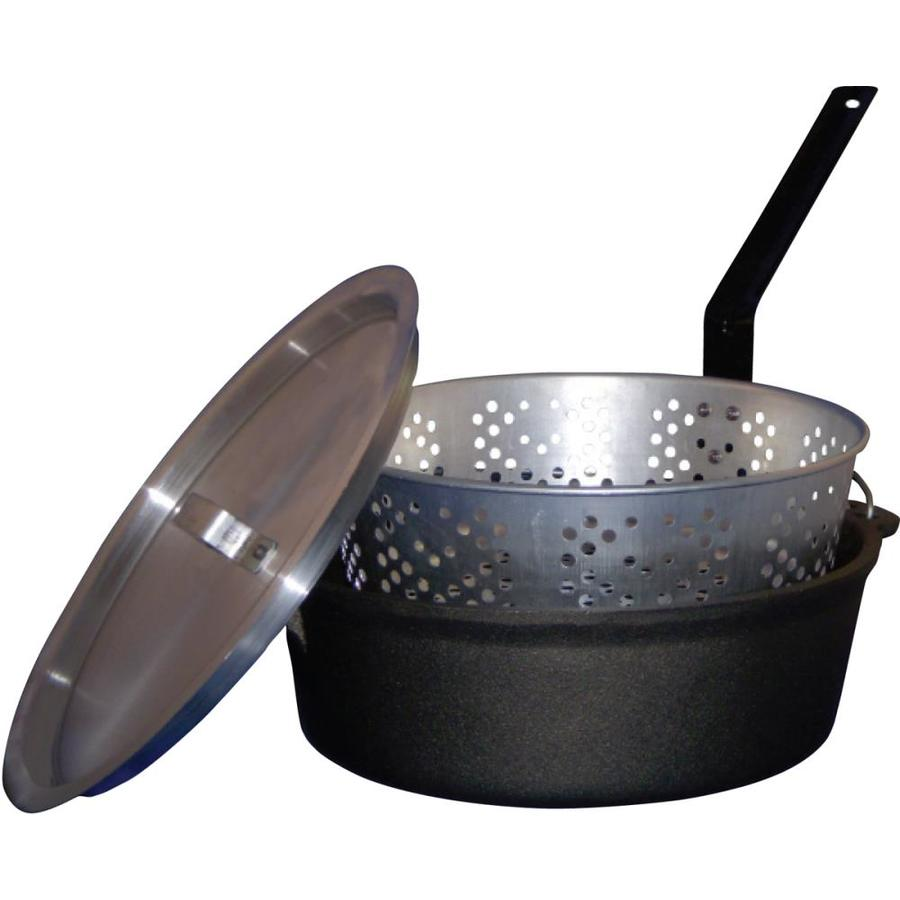 King Kooker Dutch Oven 6-Quart Cast Iron Fry Pot with Lid and Basket
