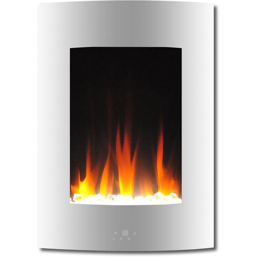 Cambridge 19 5 In Vertical Electric Fireplace In White With Multi