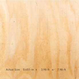 Plytanium 15/32 CAT PS1-09 Square Structural Plywood Pine, Application as 4 x 8