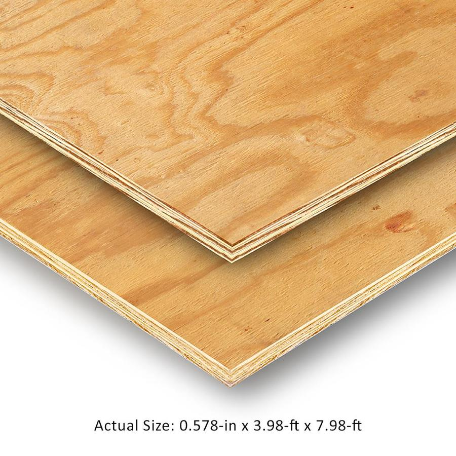 Plytanium 19 32 Cat Ps1 09 Square Structural Pine Sheathing Application As 4 X 8 In The Plywood Department At Lowes Com