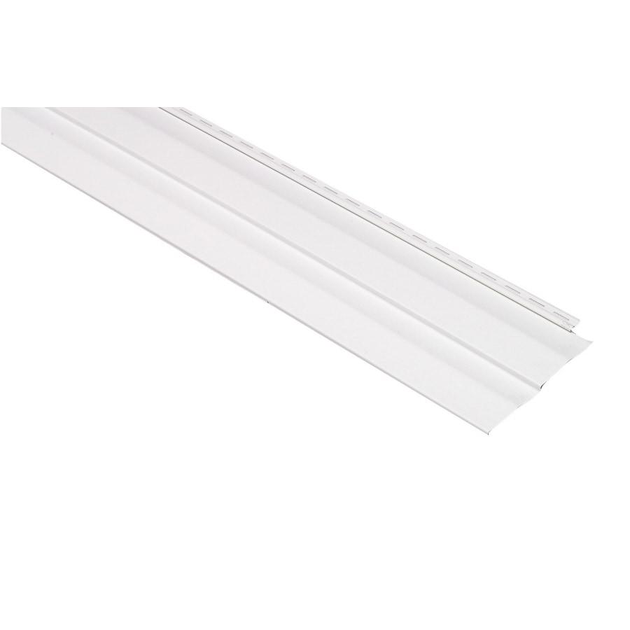 Georgia-Pacific Shadow Ridge Double 5 Dutch Lap White Vinyl Siding Panel 10-in x 144-in