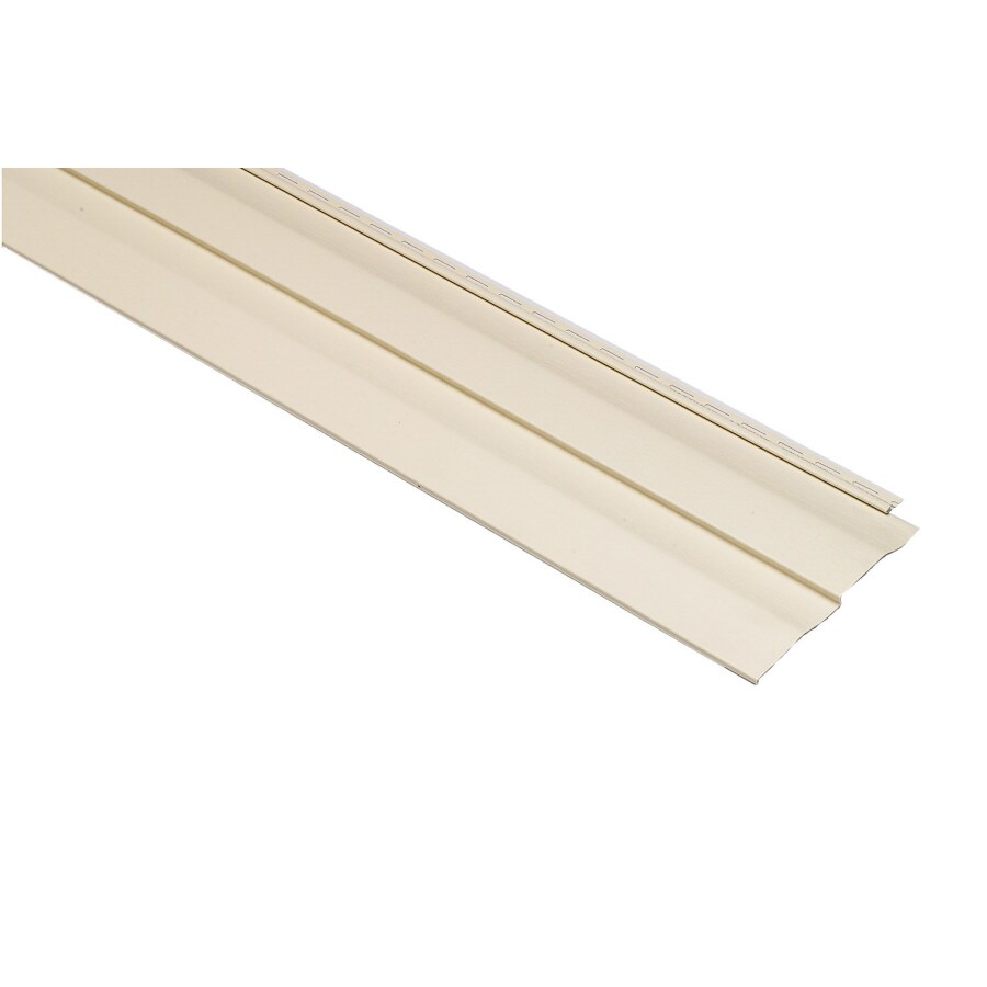 Shadow Ridge Dutch Lap Cream Vinyl Siding Panel 11.25-in x 144-in