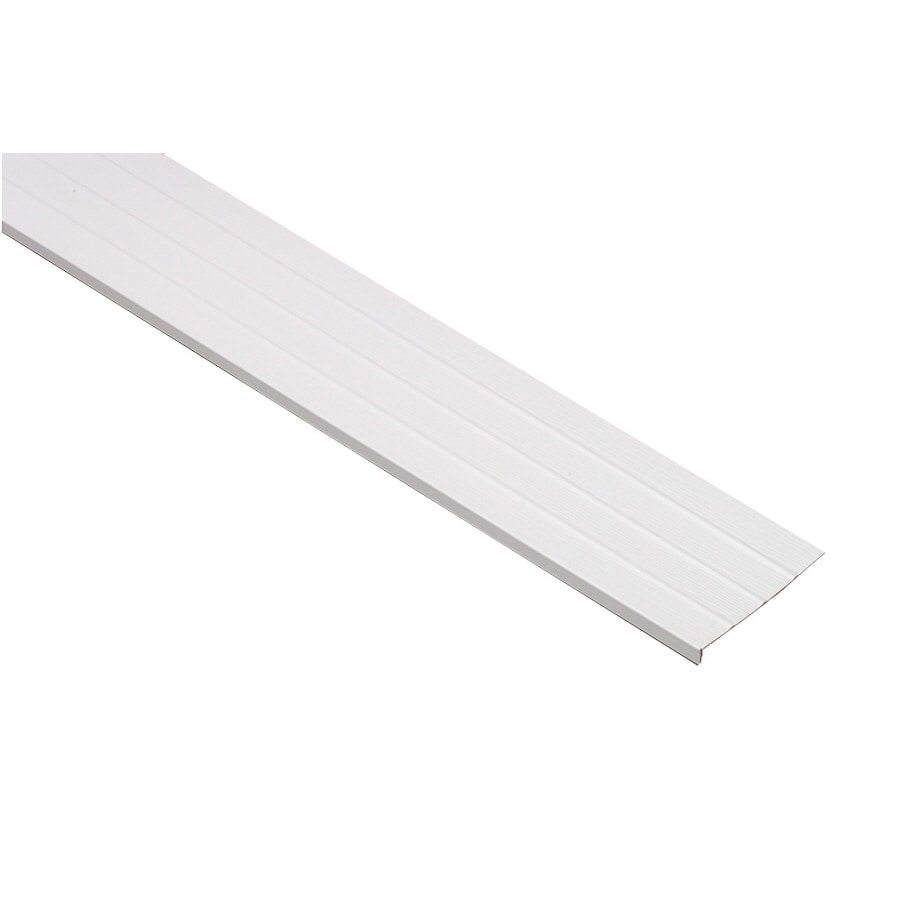 8-in x 12.6-ft White Woodgrain Vinyl Fascia