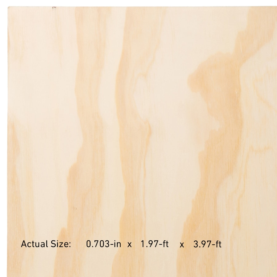 23 32 In Common Pine Sanded Plywood Application As 2 X 4