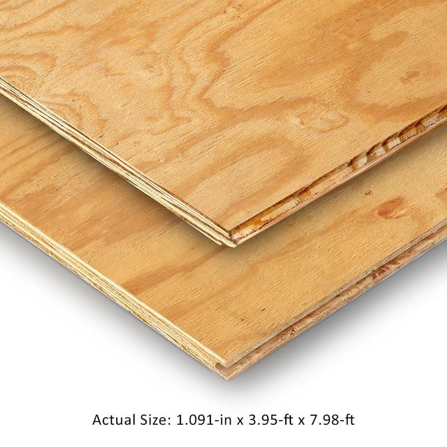 Plytanium 1-1/8 CAT PS1-09 Tongue and Groove Pine Plywood Subfloor, Application as 4 x 8
