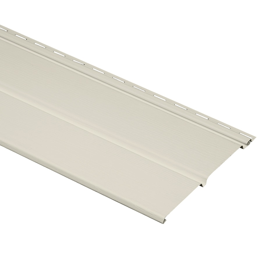 Almond Double Vented Soffit (Common: 10-in x 12-ft; Actual: 10-in x 12-ft)