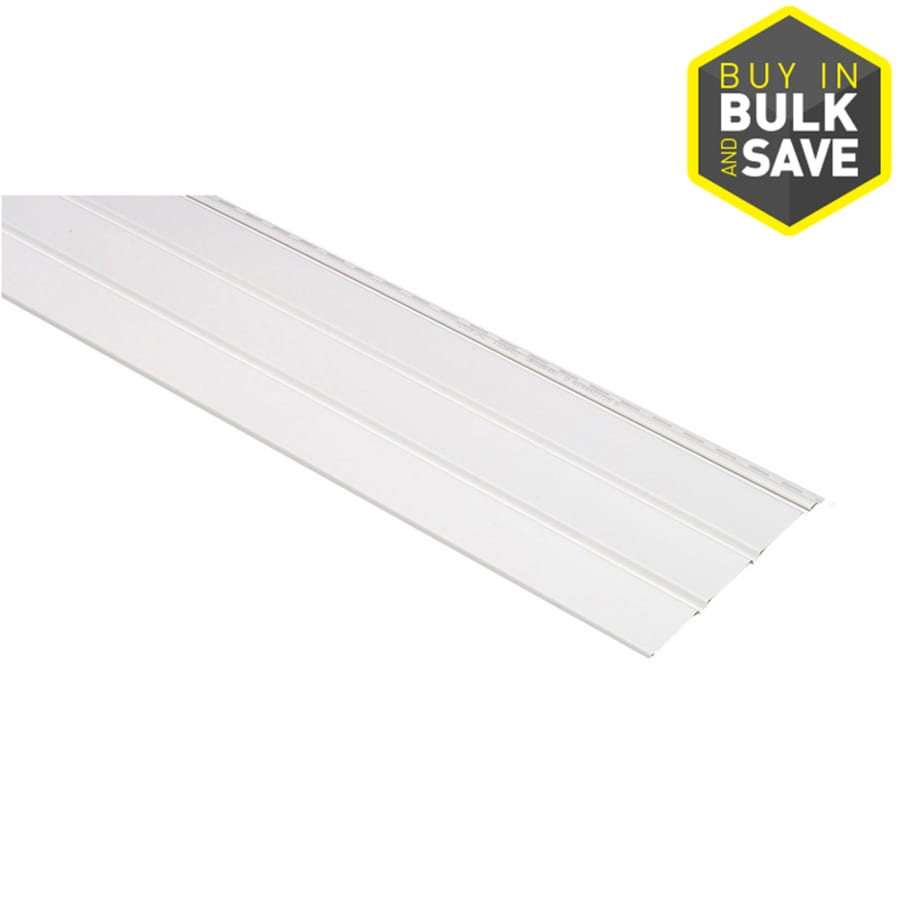 12 In X 143 75 In White Vinyl Solid Soffit At Lowes Com