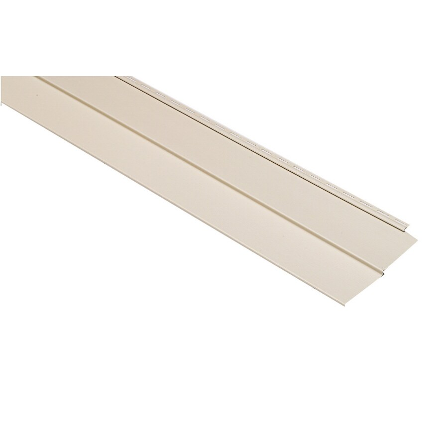 Georgia-Pacific Vision Pro Vinyl Siding Panel Double 5 Traditional Almond 10-in x 144-in
