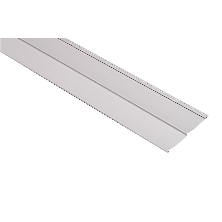 Georgia-Pacific Vision Pro Vinyl Siding Panel Double 5 Traditional Gray 10-in x 144-in