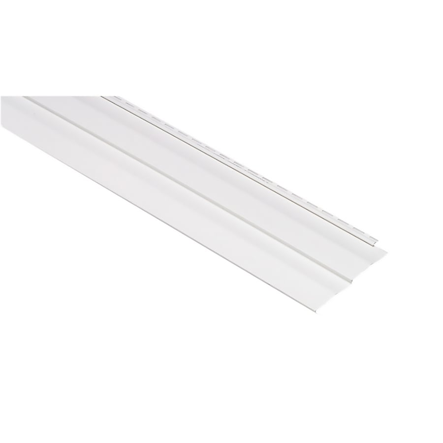 Georgia-Pacific Vision Pro Vinyl Siding Panel Double 5 Dutch Lap White 10-in x 144-in