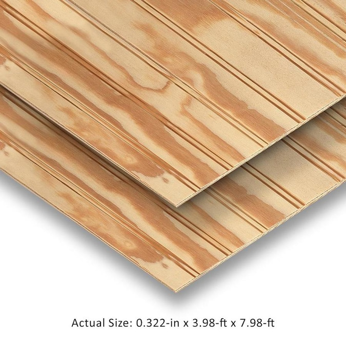 Plytanium Ply Bead Natural Syp Plywood Panel Siding Common 0 3437 In X 48 In X 96 In Actual 0 322 In X 47 875 In X 95 875 In In The Wood Siding Panels Department At Lowes Com