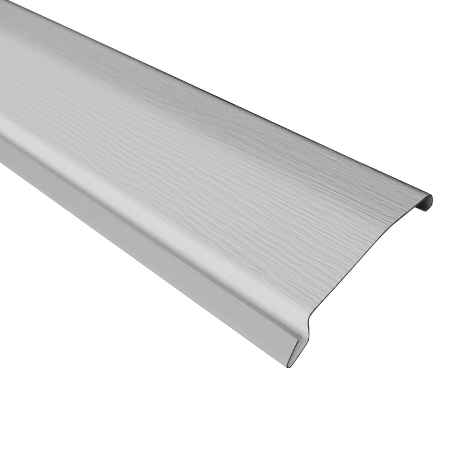 4.65-in x 7.9791-ft Gray Vinyl Top Rail Skirting Trim